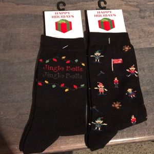 2 Pairs of Christmas Holiday Socks! Never opened